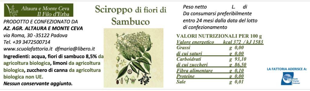 9 Etichetta fiori di sambuco